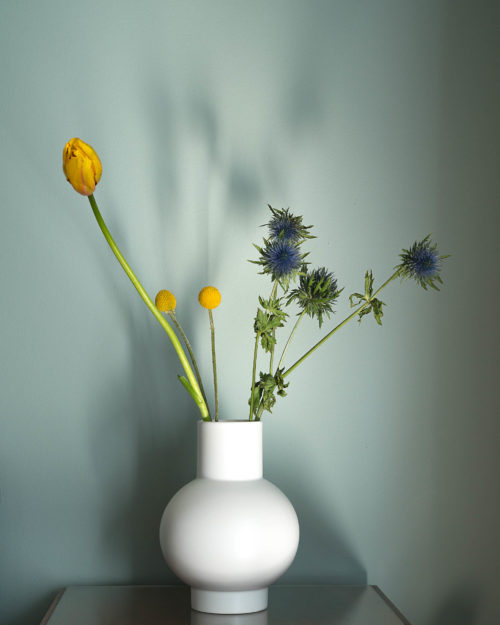 Strom small white vase