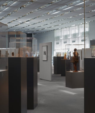 The Sainsbury Centre Living Area was specially designed to enable visitors to see the works of art close up
