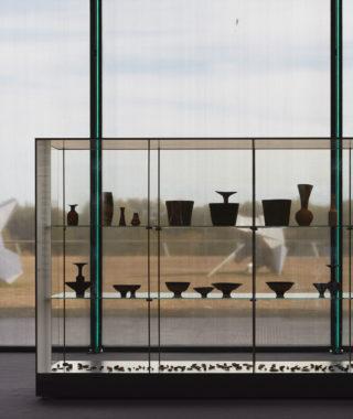 Collection cabinet display at Sainsbury Centre