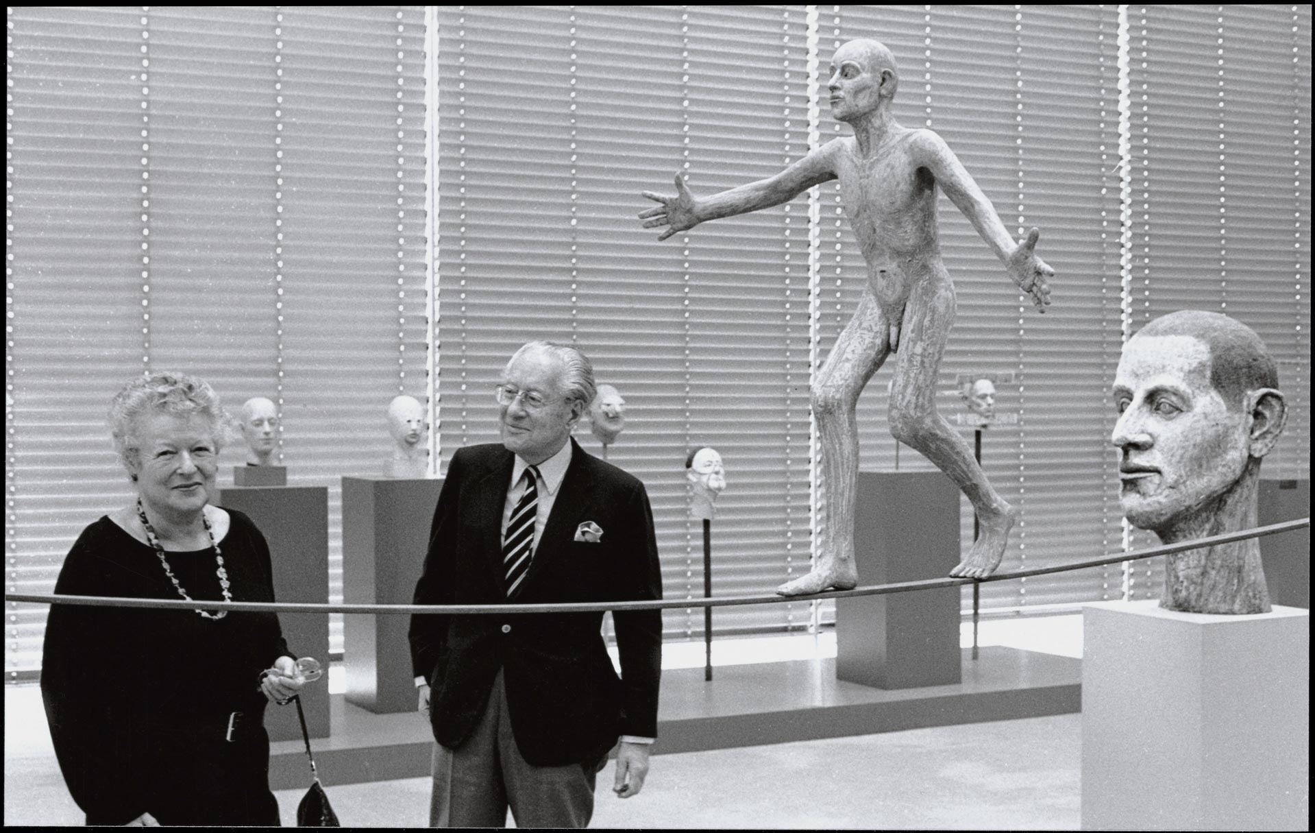 Sir Robert and Lady Sainsbury in the gallery, 1985