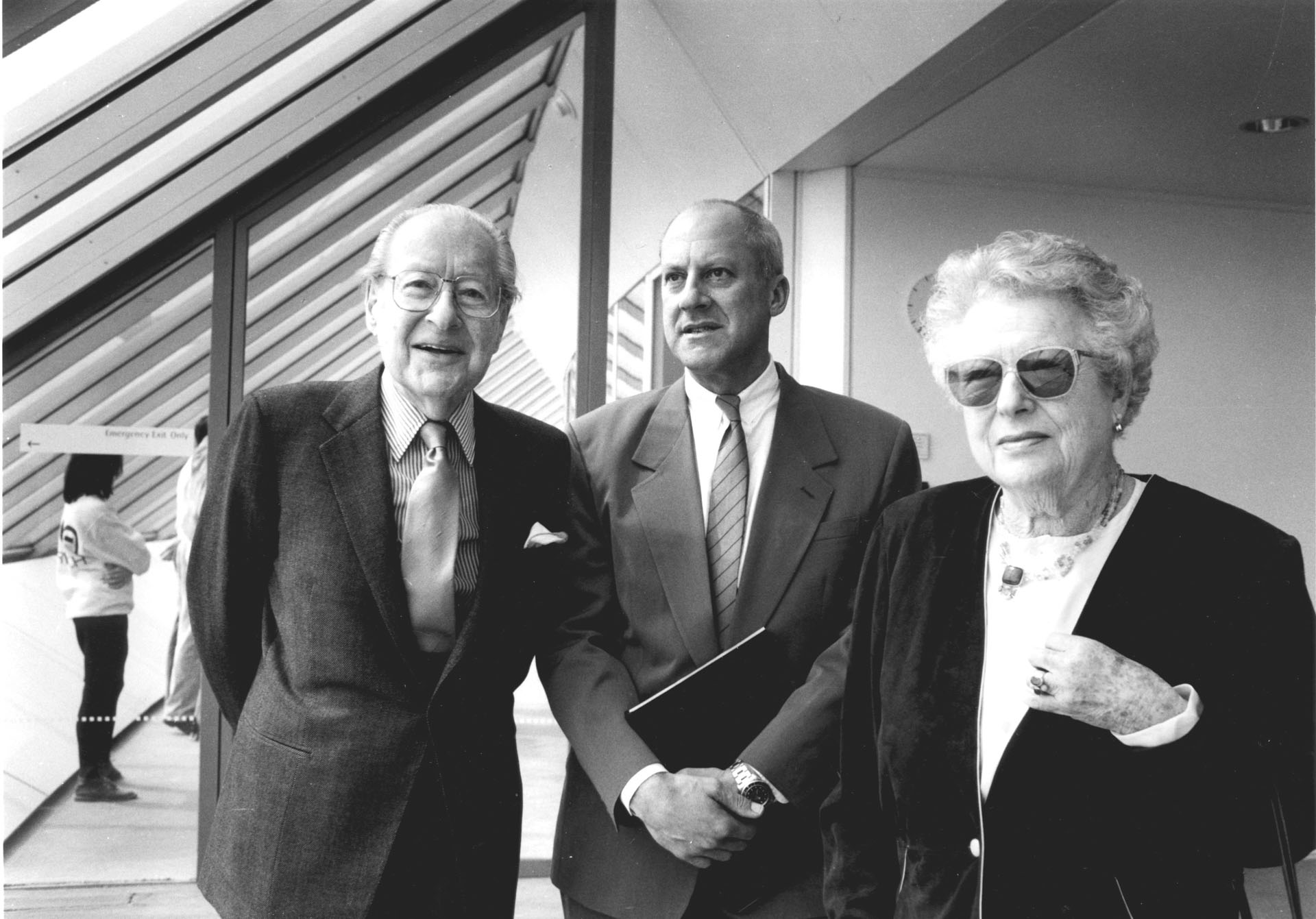 Robert and Lisa Sainsbury with Norman Foster, 1991