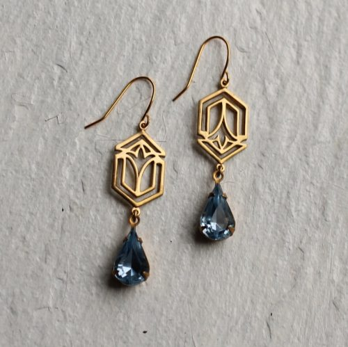 Deco Sapphire Earrings