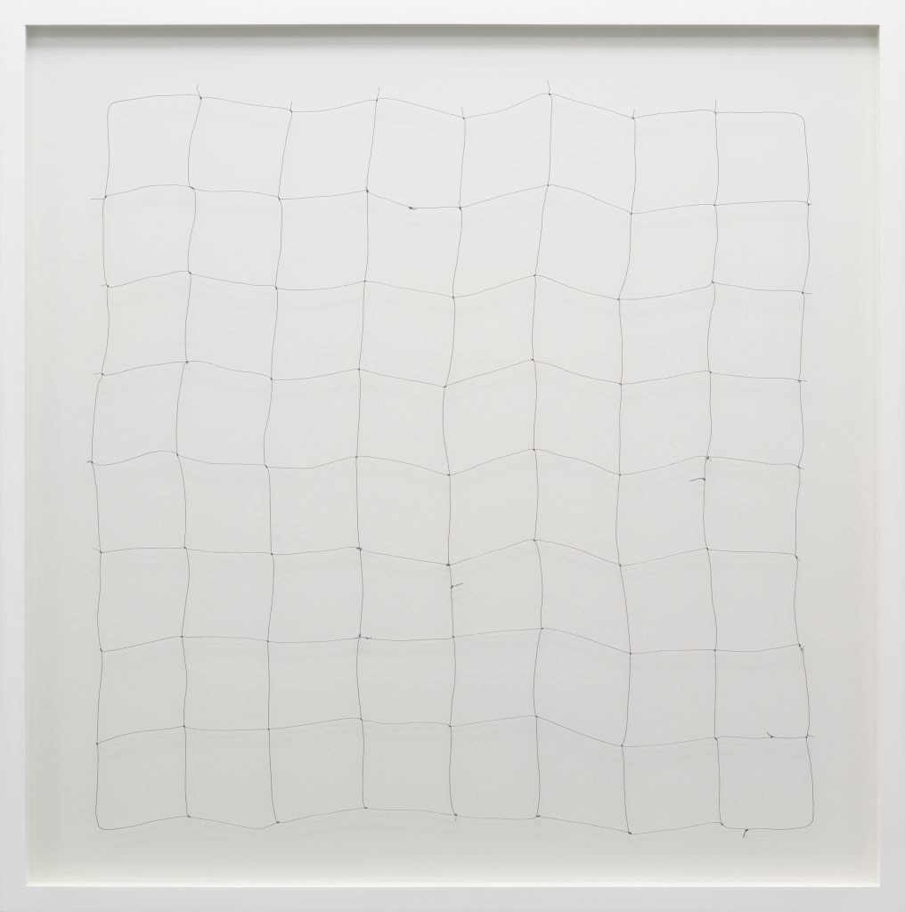 Work on paper by Cornelia Parker, featuring lead and wire