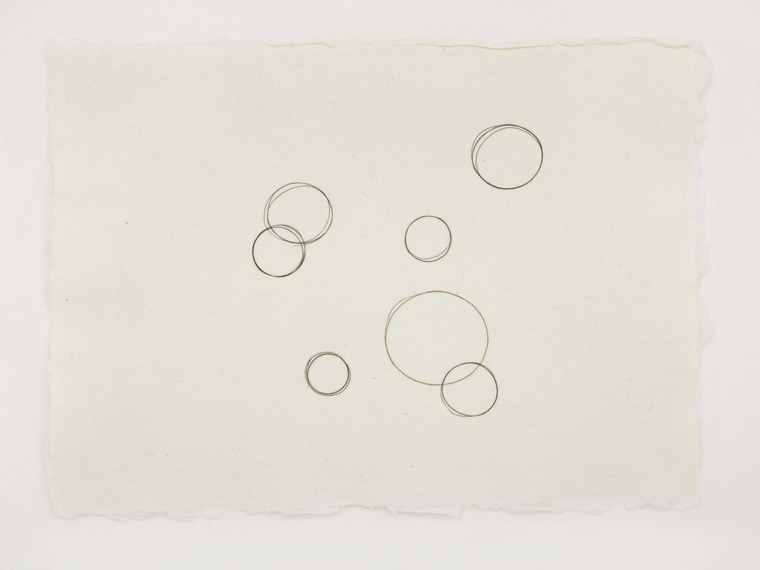 Work on paper by Mona Hatoum depicting circles