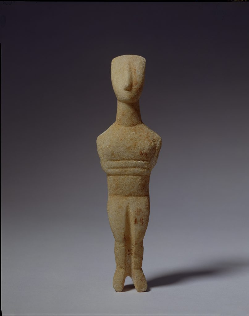 A marble figure from circa 2700–2400 BC