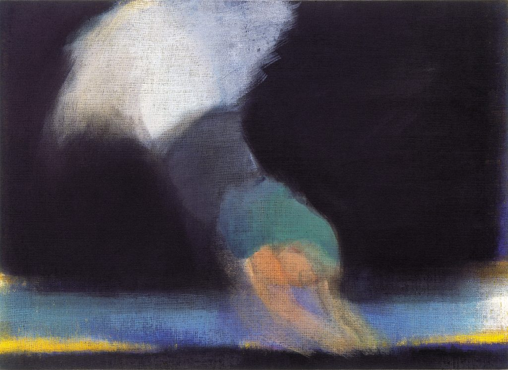 Expressionistic painting with form resembling the female figure