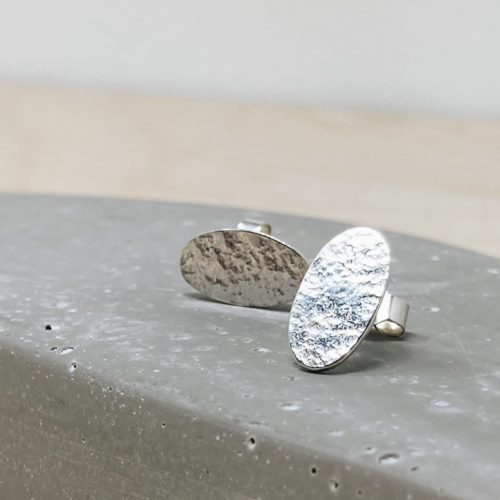Suzanne Seed textured oval Earrings