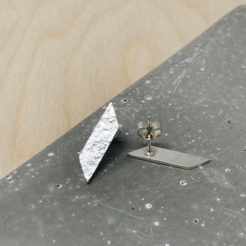 Suzanne Seed textured geometric stud
