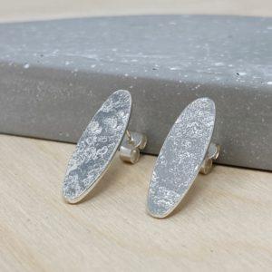Suzanne Seed long oval stud Earrings