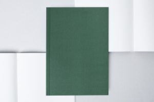 A5 Layflat Notebook plain pages - Forest Green & Otti Mustard
