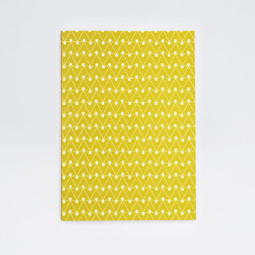 A5 Layflat Notebook ruled pages - Dash print in Leaf Green