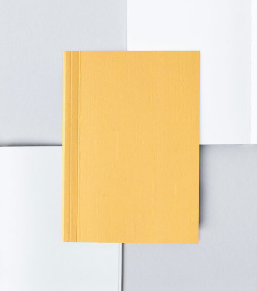 A6 Layflat Pocket Notebook dotted pages - Mustard & Otti Rust