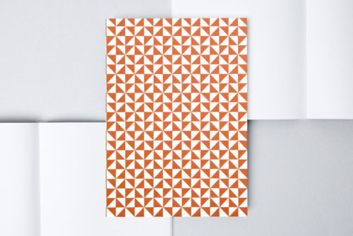 Ola A5 Lined Notebook - Red Kaffe print