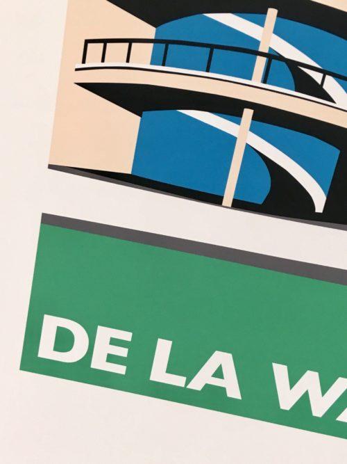 DE LA WARR Pavilion Travel Poster
